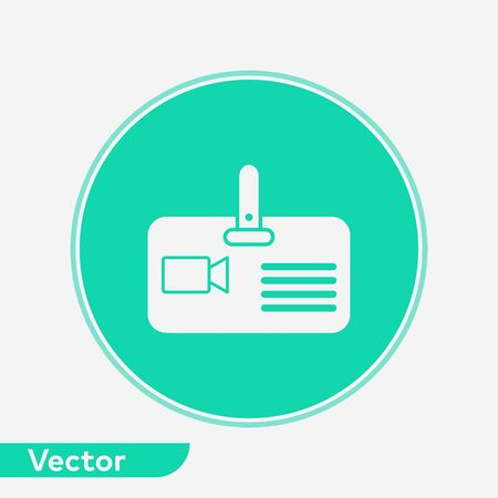 Press card icon vector, filled flat sign, solid pictogram isolated on white. Symbol, logo illustration.