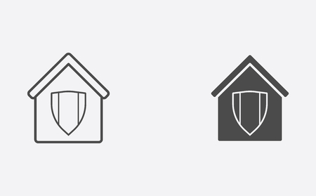 Protect icon, filled flat sign, solid pictogram isolated on white.