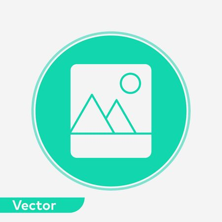 Picture icon vector, filled flat sign, solid pictogram isolated on white. Symbol, logo illustration.