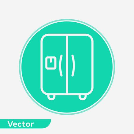 Refrigerator icon vector, filled flat sign, solid pictogram isolated on white. Symbol, logo illustration. Vectores