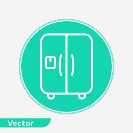 Refrigerator icon vector, filled flat sign, solid pictogram isolated on white. Symbol, logo illustration. Ilustrace
