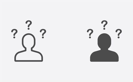 Questions icon vector, filled flat sign, solid pictogram isolated on white. Symbol, logo illustration.