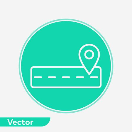 Road icon vector, filled flat sign, solid pictogram isolated on white. Symbol, logo illustration. Vectores