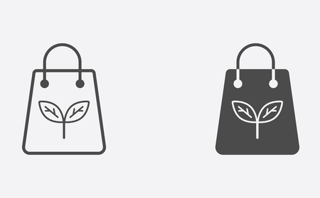 Shopping bag icon, filled flat sign, solid pictogram isolated on white.