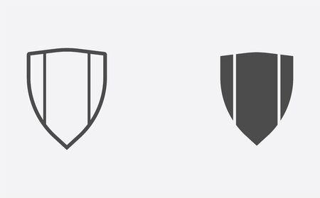 Shield icon vector, filled flat sign, solid pictogram isolated on white. Symbol, logo illustration. Archivio Fotografico - 129595308