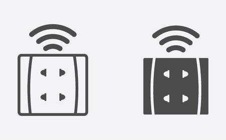 Smart socket icon vector, filled flat sign, solid pictogram isolated on white. Symbol, logo illustration. Stock Illustratie