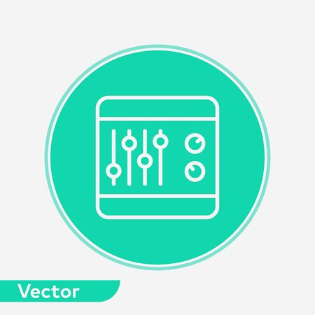 Sound mixer icon vector, filled flat sign, solid pictogram isolated on white. Symbol, logo illustration.