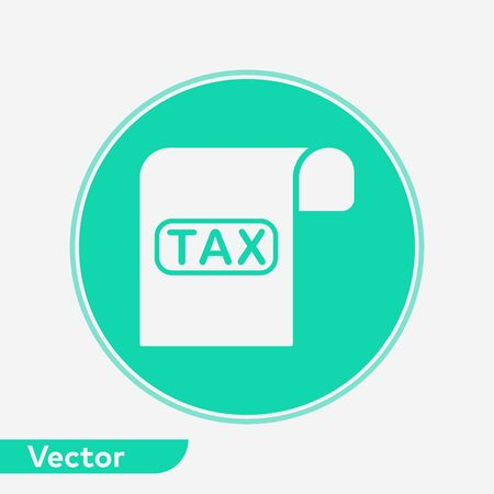 Tax icon vector, filled flat sign, solid pictogram isolated on white. Symbol, logo illustration. Ilustração