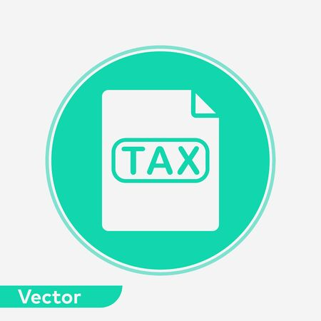 Tax icon vector, filled flat sign, solid pictogram isolated on white. Symbol, logo illustration. Illustration
