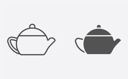 Teapot icon vector, filled flat sign, solid pictogram isolated on white. Symbol, logo illustration.