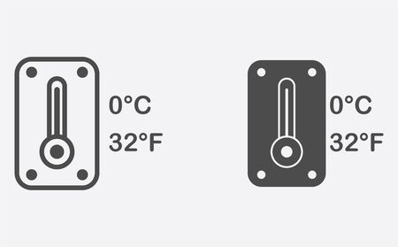 Thermometer icon vector, filled flat sign, solid pictogram isolated on white. Symbol, logo illustration. Illusztráció