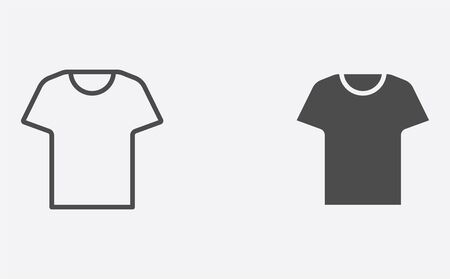 T-shirt icon vector, filled flat sign, solid pictogram isolated on white. Symbol illustration.