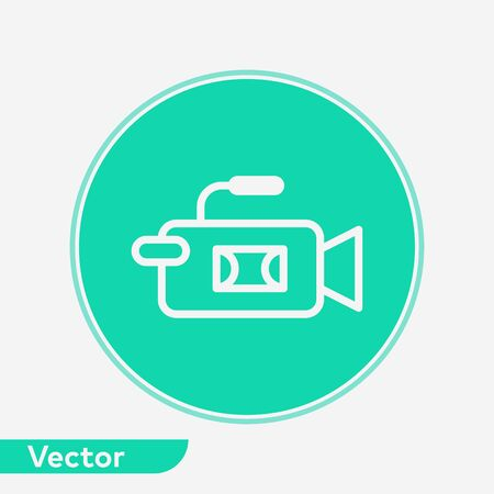 Video camera icon vector, filled flat sign, solid pictogram isolated on white. Symbol, logo illustration. Standard-Bild - 129596493