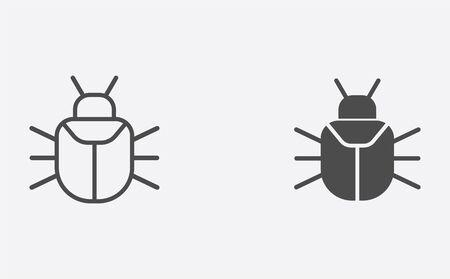 Virus icon vector, filled flat sign, solid pictogram isolated on white. Symbol, logo illustration. Çizim