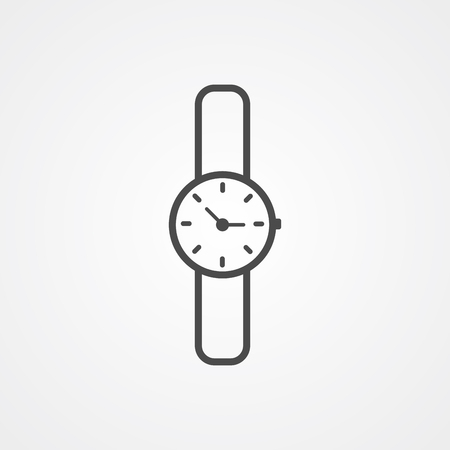 Watch icon vector, filled flat sign, solid pictogram isolated on white. Symbol, logo illustration. Ilustração