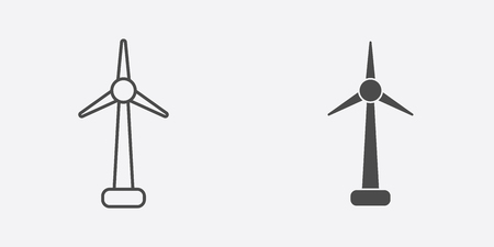 Windmill icon vector, filled flat sign, solid pictogram isolated on white. Symbol, logo illustration.