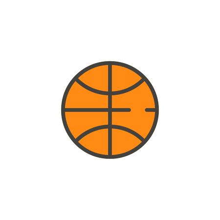 Basketbal icon vector, filled flat sign, solid pictogram isolated on white. Symbol, logo illustration. Stock Illustratie