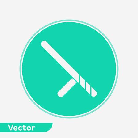 Baton icon vector, filled flat sign, solid pictogram isolated on white. Symbol, logo illustration.