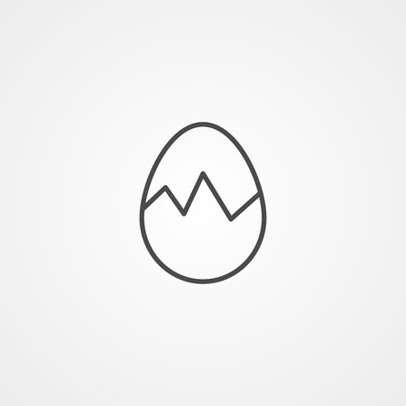 Broken egg icon vector, filled flat sign, solid pictogram isolated on white. Symbol, logo illustration.