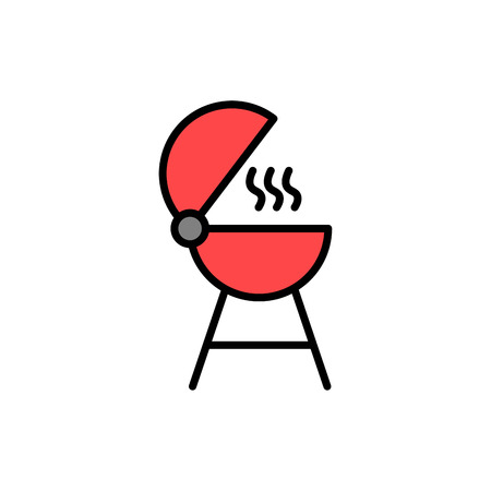 Grill icon vector, filled flat sign, solid pictogram isolated on white. Symbol, logo illustration.