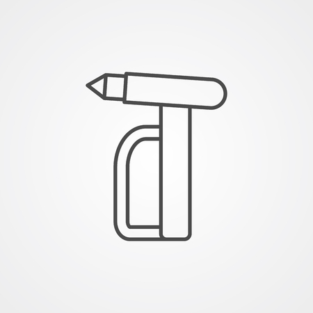Emergency hammer icon vector, filled flat sign, solid pictogram isolated on white. Symbol, logo illustration.