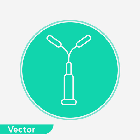 Street light icon vector, filled flat sign, solid pictogram isolated on white. Symbol, logo illustration.