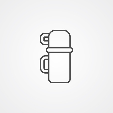 Thermos icon vector, filled flat sign, solid pictogram isolated on white. Symbol, logo illustration.