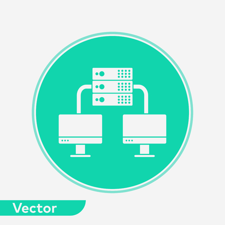 Server icon vector, filled flat sign, solid pictogram isolated on white. Symbol, logo illustration. Ilustração