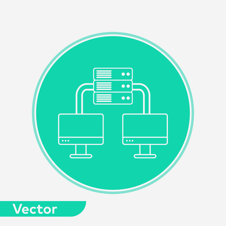 Server icon vector, filled flat sign, solid pictogram isolated on white. Symbol, logo illustration. Illustration