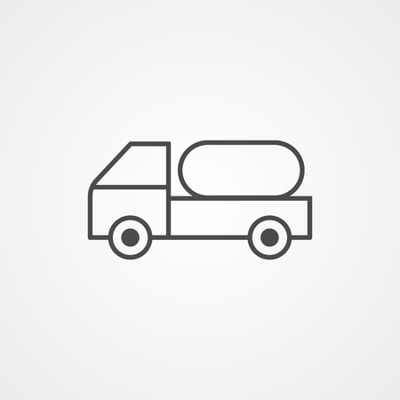 Water truck icon vector, filled flat sign, solid pictogram isolated on white. Symbol, logo illustration.