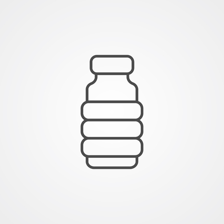 Water bottle icon vector, filled flat sign, solid pictogram isolated on white. Symbol, logo illustration.