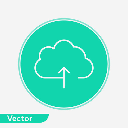 Upload icon vector, filled flat sign, solid pictogram isolated on white. Symbol, logo illustration.