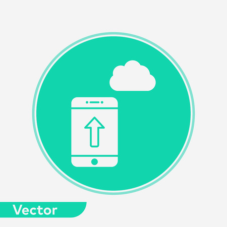 Upload server icon vector, filled flat sign, solid pictogram isolated on white. Symbol, logo illustration.