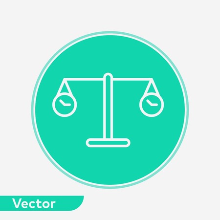 Time balance icon vector, filled flat sign, solid pictogram isolated on white. Symbol, logo illustration.