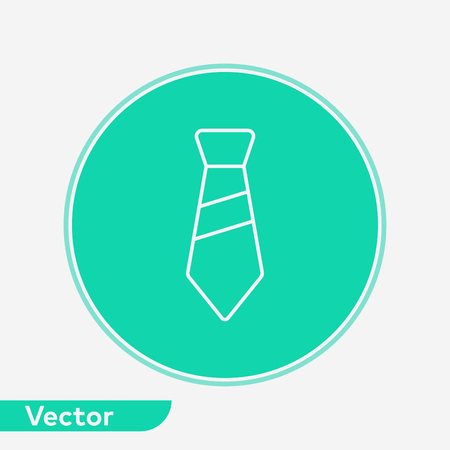 Tie icon vector, filled flat sign, solid pictogram isolated on white. Symbol, logo illustration. Illustration