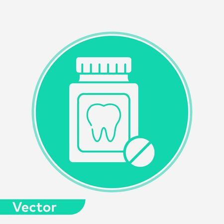 Pill bottle icon vector, filled flat sign, solid pictogram isolated on white. Symbol, logo illustration.