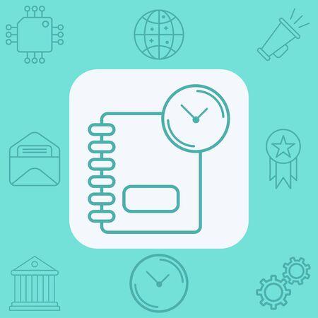 Agenda icon vector, filled flat sign, solid pictogram isolated on white. Symbol, logo illustration.