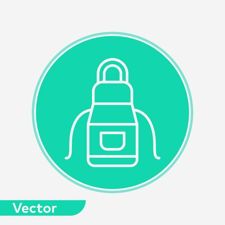 Apron icon vector, filled flat sign, solid pictogram isolated on white. Symbol, logo illustration.