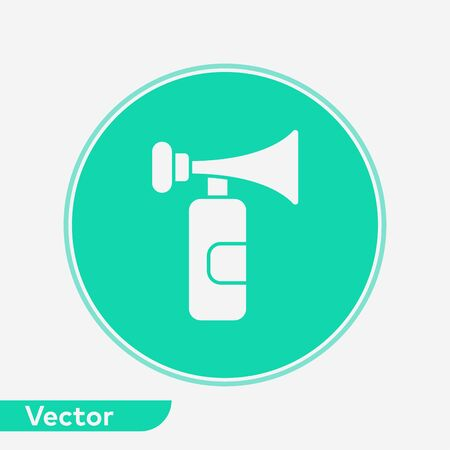 Air horn icon vector, filled flat sign, solid pictogram isolated on white. Symbol, logo illustration.