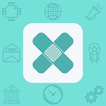 Bandage icon vector, filled flat sign, solid pictogram isolated on white. Symbol, logo illustration.
