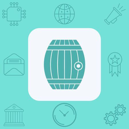 Barrel icon vector, filled flat sign, solid pictogram isolated on white. Symbol, logo illustration. Illustration