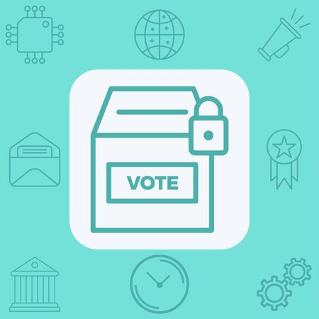 Ballot box icon vector, filled flat sign, solid pictogram isolated on white. Symbol, logo illustration.