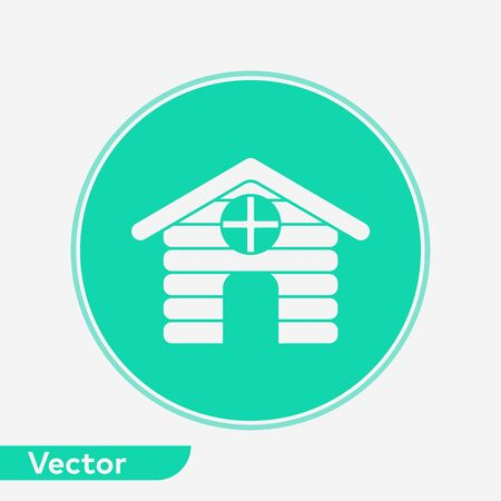 Cabin icon vector, filled flat sign, solid pictogram isolated on white. Symbol, logo illustration. Illustration