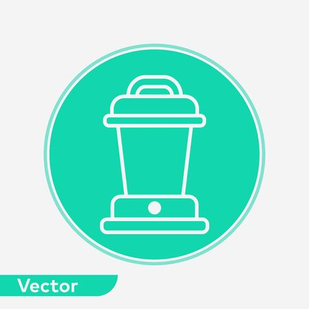 Camp lantern icon vector, filled flat sign, solid pictogram isolated on white. Symbol, logo illustration. Ilustracja