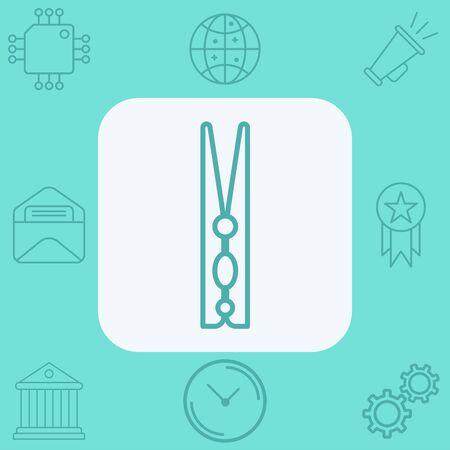 Clothespins icon vector, filled flat sign, solid pictogram isolated on white. Symbol, logo illustration. Illusztráció