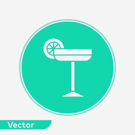 Cocktail icon vector, filled flat sign, solid pictogram isolated on white. Symbol, logo illustration.