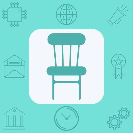 Chair icon vector, filled flat sign, solid pictogram isolated on white. Symbol, logo illustration.