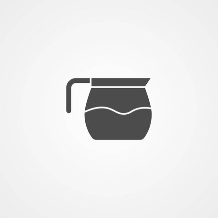 Coffee pot icon vector, filled flat sign, solid pictogram isolated on white. Symbol, logo illustration. Stock Illustratie