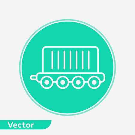 Cargo train icon vector, filled flat sign, solid pictogram isolated on white. Symbol, logo illustration. Foto de archivo - 129604912