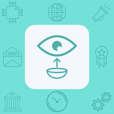 Contact lens icon vector, filled flat sign, solid pictogram isolated on white. Symbol, logo illustration.